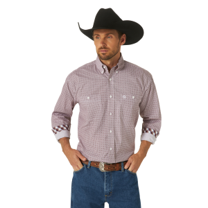Men's  George Strait Printed Long Sleeve Button Down Shirt