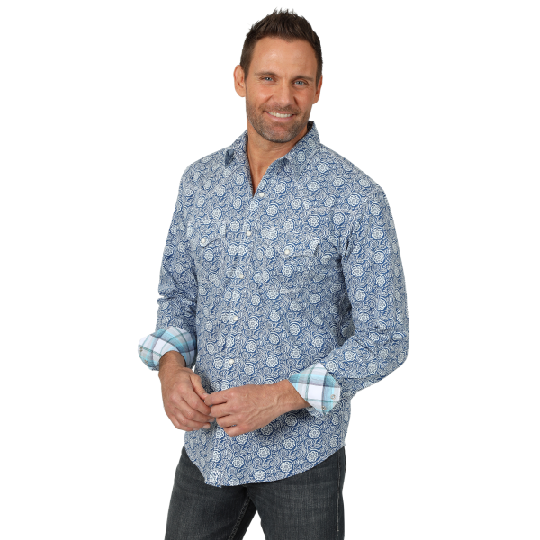 20X Advanced Comfort Print Long Sleeve Snap Shirt
