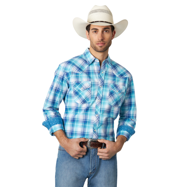 20X Competition Advanced Comfort Plaid Long Sleeve Snap Shirt