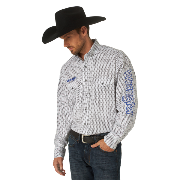 Logo Sleeve Long Sleeve Snap Shirt