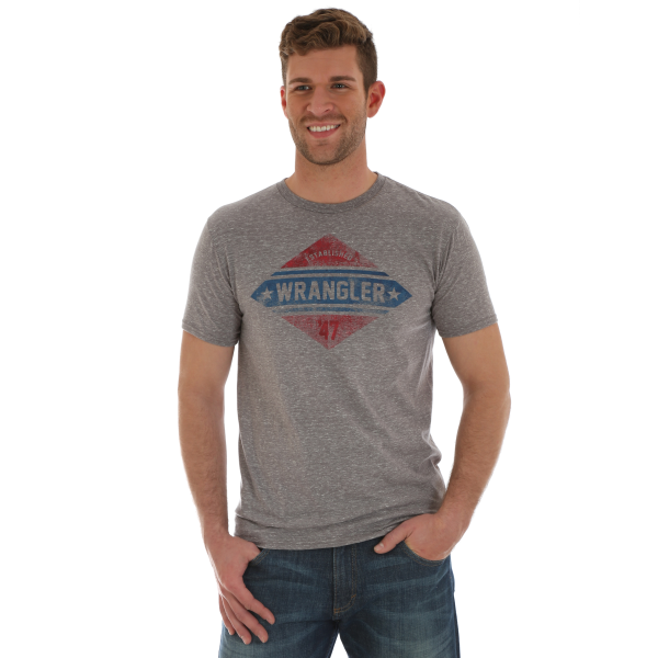 Red and Blue Logo Short Sleeve Tee