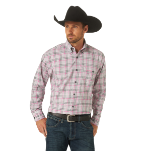 Men's  Tough Enough To Wear Pink Long Sleeve Snap Shirt