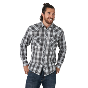 Men's  Fashion Long Sleeve Snap Shirt