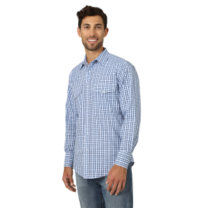 Men's  Wrinkle Resist Long Sleeve Snap Shirt