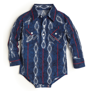 Boys'  Infant Checotah Blue Western Bodysuit