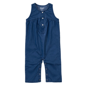 Girls'  Sleeveless Denim Romper