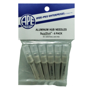 Disposable 16G Aluminum Hub Needles - 6 Pack