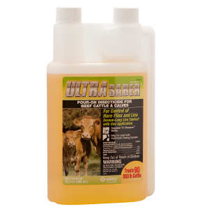 Ultra Saber Pour-On Insecticide for Beef Cattle & Calves