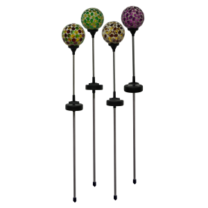 "33"" Solar Powered Mosaic Globe Garden Stake - Assorted"