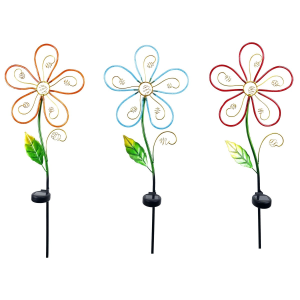 "39"" Solar Flower Garden Stake - Assorted"