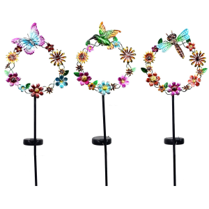 "35"" Solar Garland with Animals Garden Stake - Assorted"