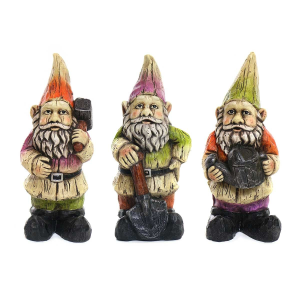 "10"" Cement Gnome Statue - Assorted"