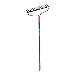 "60"" Forged 15-Tine Bow Rake with Fiberglass Handle"
