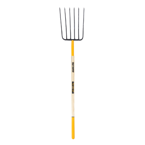 "48"" 6-Tine Manure Fork With Hardwood Handle"