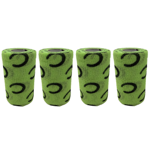 PowerFlex Horseshoe Print Bandage Wrap 4-Pack