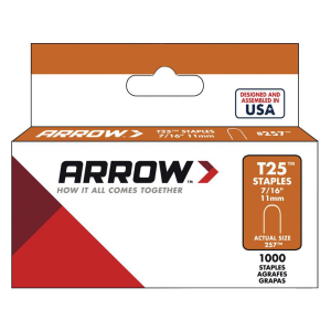 "T25 7/16"" Round Crown Staples"