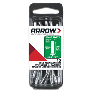 "1/8"" (3mm) Aluminum Long Blind Rivets - 15 Pack"