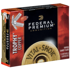 "Vital-Shok 20 gauge 2-3/4"" Shotshell 5/8 oz Trophy Copper Slug"