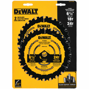 "6-1/2"" Circular Framing Saw Blade DWA1612CMB - 2 Pack"