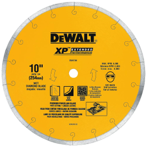 "10"" x .060"" Premium XP4 Tile Blade Wet DW4764"