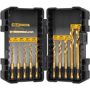 10-Piece Impact Ready Titanium Drill Bit Set with Toughcase System DD5160