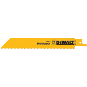 "6"" 10 TPI Straight Back Bi-Metal Reciprocating Saw Blade DW4806"