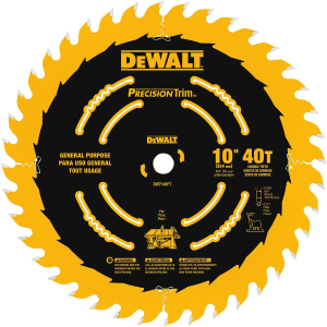 "10"" 40T Ripping / Crosscutting Saw Blade DW7140PT"