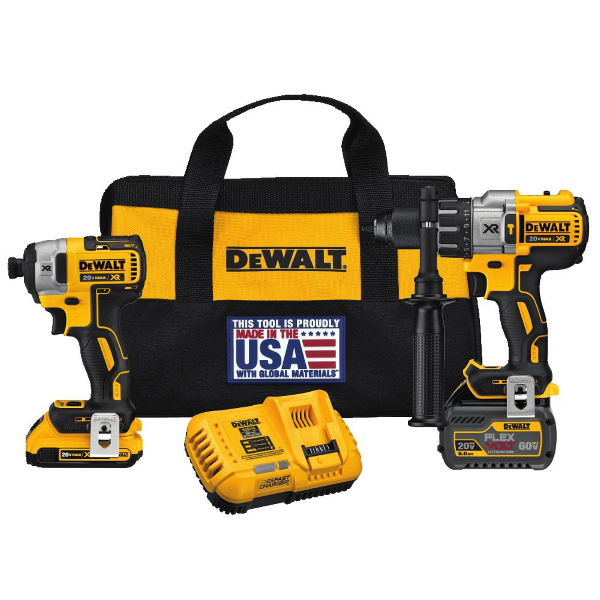 FLEXVOLT 3-Speed Hammerdrill & Impact Driver Kit DCK299D1T1