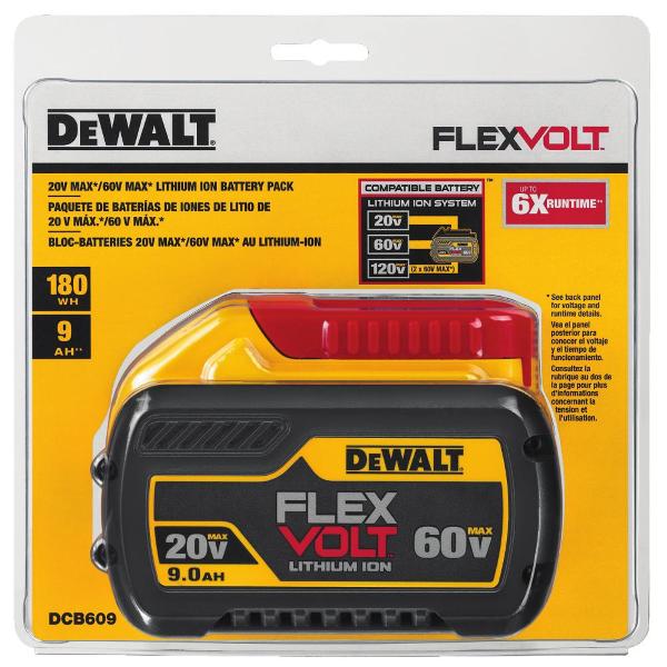 20V 60V MAX FLEXVOLT 90 Ah Battery DCB609