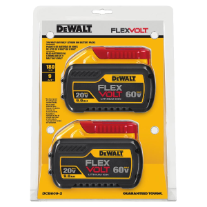 20V/60V MAX* FLEXVOLT 9.0 Ah Dual Battery Pack DCB609-2