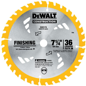 "7-1/4"" 36T Carbide Finishing Blade DW3176"