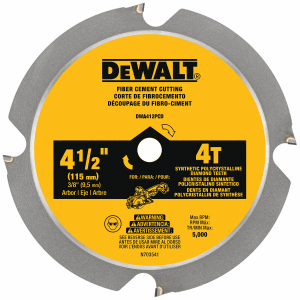 "4-1/2"" 4-Tooth Laminate & Fiber Cement Saw Blade DWA412PCD"