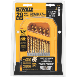 29-Piece Titanium Pilot-Point Drill Bit Set DW1369