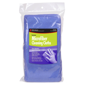 Blue Microfiber Cleaning Cloths - 12 Pack