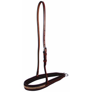 Noseband with Rawhide Lace Accent