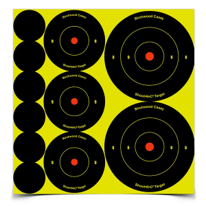 "Shoot NC Ass't 1"", 2"" & 3"" Bull's-eye Target"