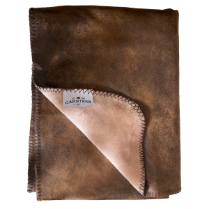 Wyoming Faux Leather Throw Blanket