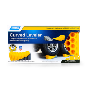 Curved Leveler and Wheel Chock