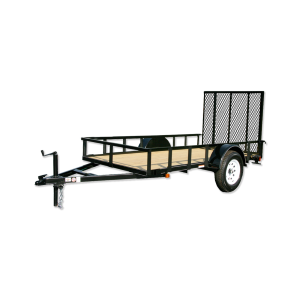 5 x 10 Wood Floor Trailer with Ramp Gate