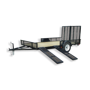 Murdoch S Carry On 7 X 12 Wood Floor Trailer With Ramp Gate And Side Mount Ramps