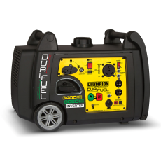 3400-Watt Dual Fuel RV Ready Portable Inverter Generator with Electric Start image