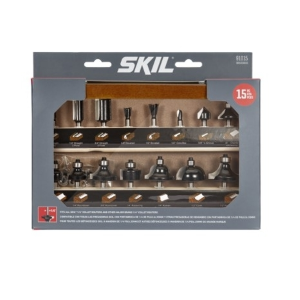 15 Piece Router Bit Set