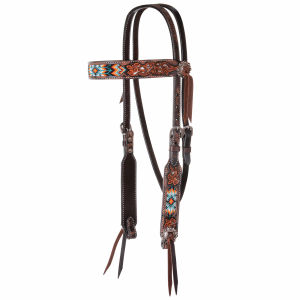 Browband Headstall Filigree Tribal Bead