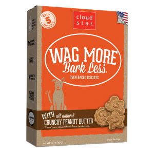 Wag More Bark Less Oven-Baked Crunchy Peanut Butter Dog Treats