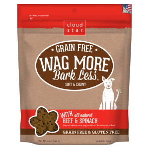 Wag More Bark Less Soft & Chewy Beef & Spinach Dog Treats