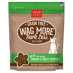 Wag More Bark Less Soft & Chewy Chicken & Sweet Potatoes Dog Treats