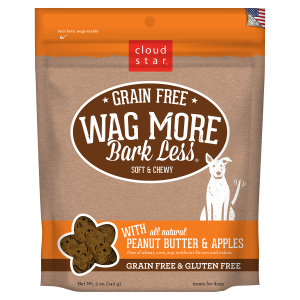 Wag More Bark Less Soft & Chewy Peanut Butter & Apples Dog Treats