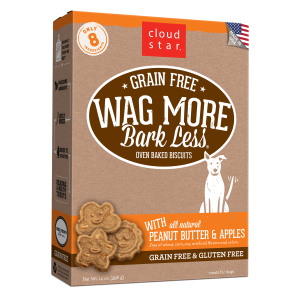 Wag More Bark Less Oven-Baked Peanut Butter & Apples Dog Treats