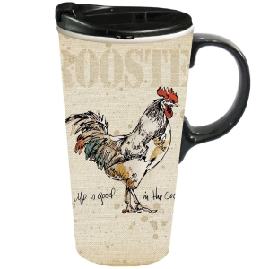 Life is Good in the Coop Ceramic Travel Cup