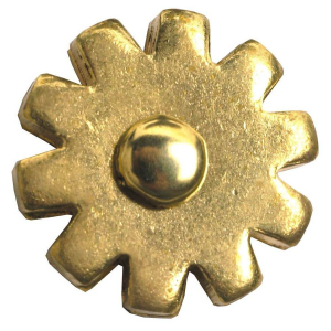 "1"" 10-Point Blunt Brass Rowel"